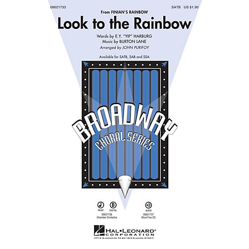Hal Leonard Look to the Rainbow (from Finian's Rainbow) SATB arranged by John Purifoy
