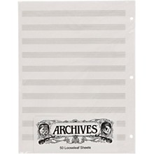 Archives Loose Leaf Manuscript Paper 10 Stave 50 Sheets