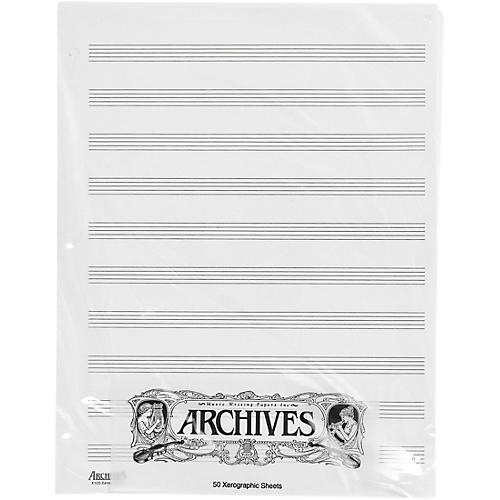 Loose Leaf Manuscript Paper 10 Stave 50 Xerographic Sheets