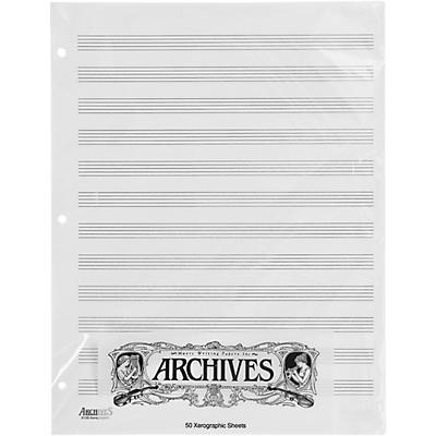 Archives Loose Leaf Manuscript Paper 12 Stave 50 Xerographic Sheets