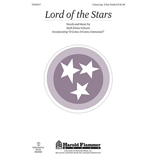 Shawnee Press Lord of the Stars UNIS/2PT composed by Ruth Elaine Schram