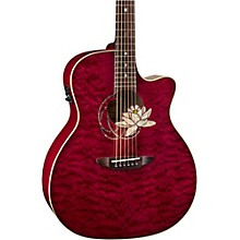 Open BoxLuna Guitars Lotus Quilted Maple Acoustic-Electric Guitar