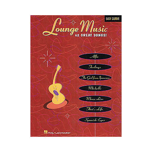 Hal Leonard Lounge Music Easy Guitar Book