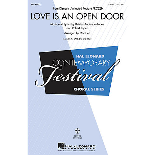 Hal Leonard Love Is An Open Door (from Frozen) 2-Part Arranged by Mac Huff