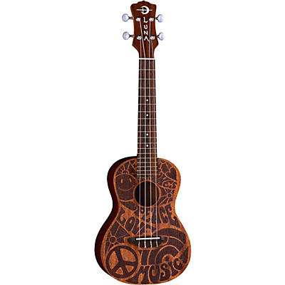 Luna Guitars Love Music Peace Concert Ukulele