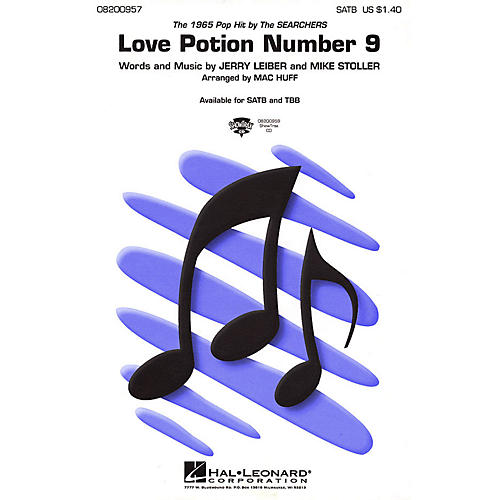 Hal Leonard Love Potion Number 9 ShowTrax CD by Searchers Arranged by Mac Huff