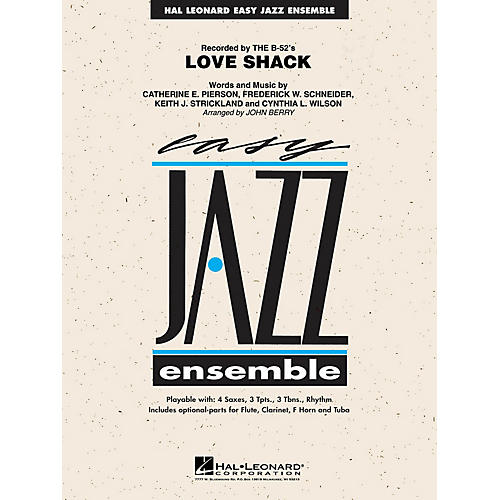 Hal Leonard Love Shack Jazz Band Level 2 by The B-52's Arranged by John Berry