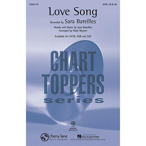 Hal Leonard Love Song ShowTrax CD by Sara Bareilles Arranged by Mark Brymer
