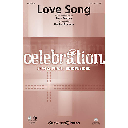 Shawnee Press Love Song Studiotrax CD Arranged by Heather Sorenson