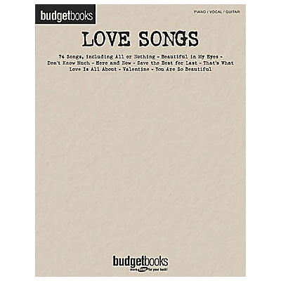 Hal Leonard Love Songs Budget Piano, Vocal, Guitar Songbook