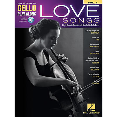 Hal Leonard Love Songs Cello Play-Along Volume 7 Book/Audio Online