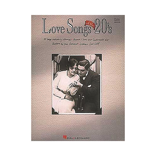 Hal Leonard Love Songs Of The 20's Piano, Vocal, Guitar Songbook