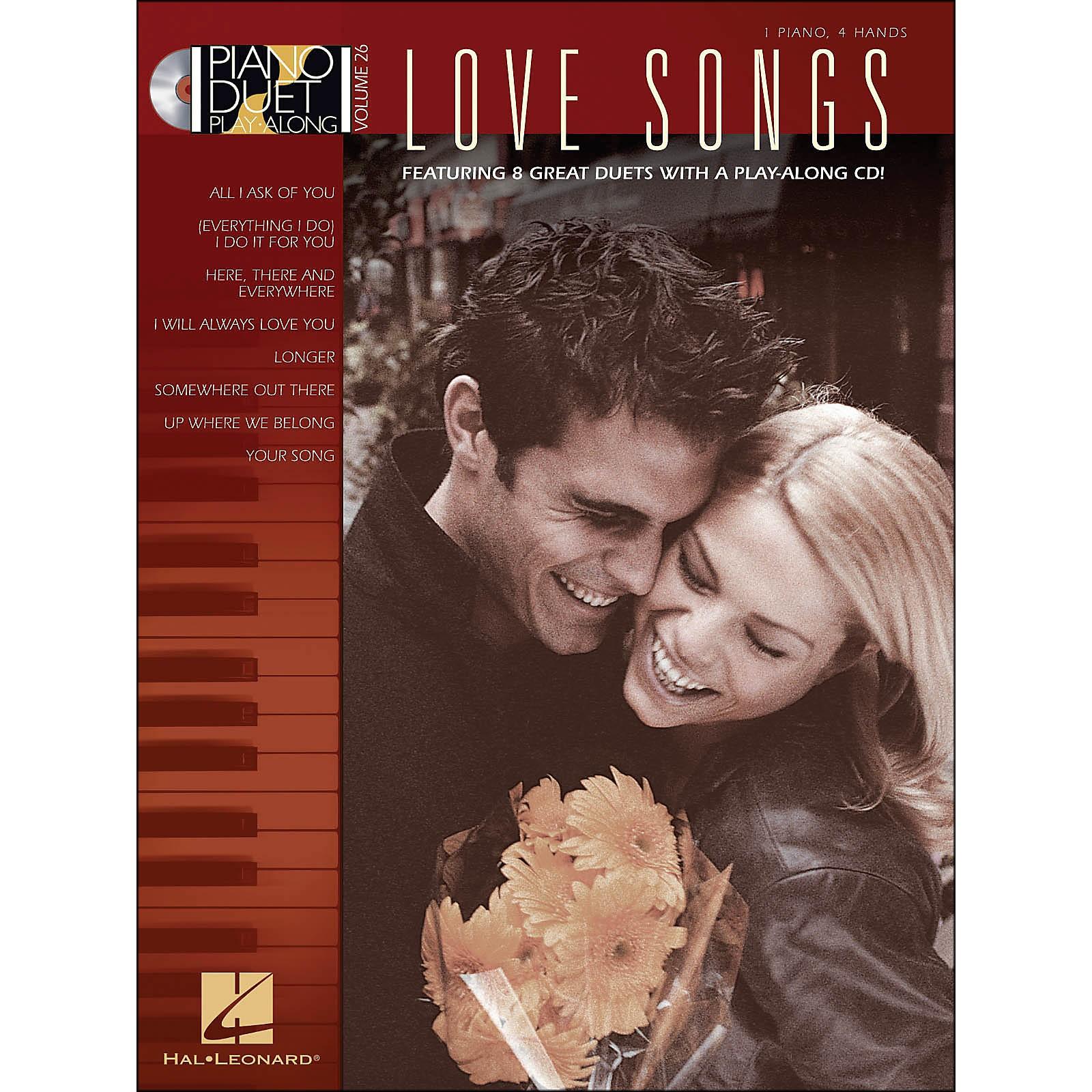 Hal Leonard Love Songs Piano Duet Play- Along Volume 26 Book/CD