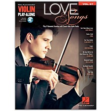 Hal Leonard Love Songs (Violin Play-Along Volume 67) Violin Play-Along Series Softcover Audio Online by Various