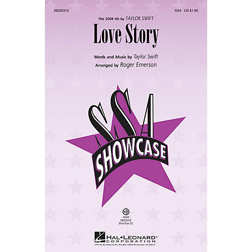 Hal Leonard Love Story ShowTrax CD by Taylor Swift Arranged by Roger Emerson