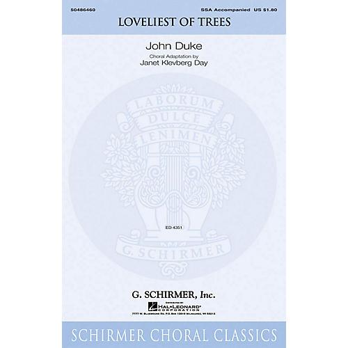 G. Schirmer Loveliest of Trees SSA arranged by Janet Day