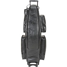 Low Bb Baritone Saxophone Wheelie Bag 107-WBFLK Black Ultra Leather