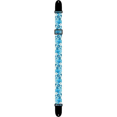 Perri's Luau Floral Ukulele Strap Blue