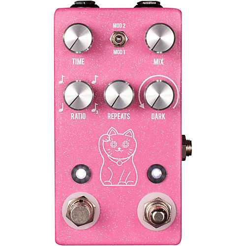 JHS Pedals Lucky Cat Delay Effects Pedal - Pink