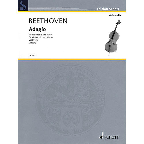 Schott Ludwig van Beethoven - Adagio WoO 43b (Cello and Piano) String Series Softcover