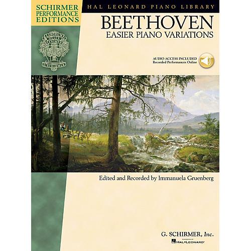 G. Schirmer Ludwig van Beethoven - Easier Piano Variations Schirmer Performance Editions BK/CD by Beethoven