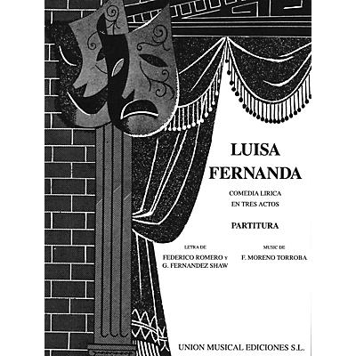 Music Sales Luisa Fernanda (Vocal Score) Vocal Score Composed by Federico Moreno-Torroba
