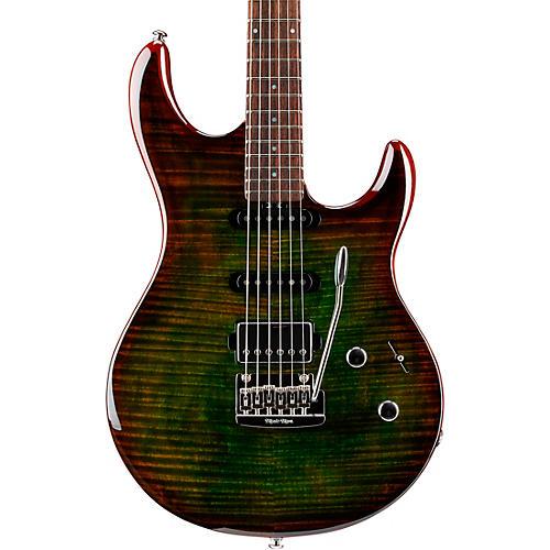 Ernie Ball Music Man Luke 3 HSS Flame Maple Top Rosewood Fingerboard Electric Guitar Luscious Green