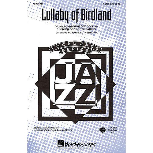Hal Leonard Lullaby Of Birdland IPAKR Arranged by Paris Rutherford