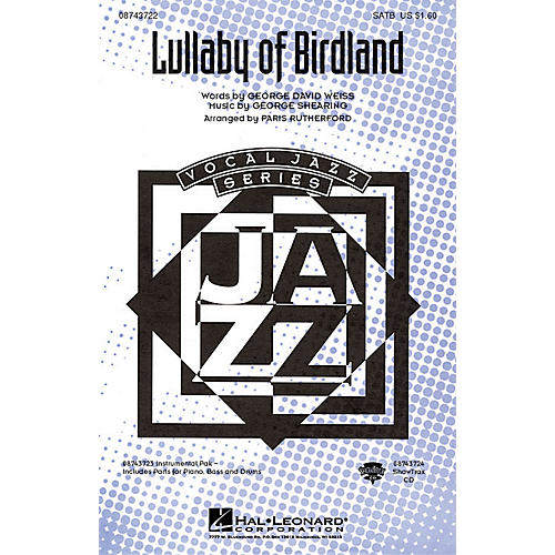 Hal Leonard Lullaby Of Birdland ShowTrax CD Arranged by Paris Rutherford