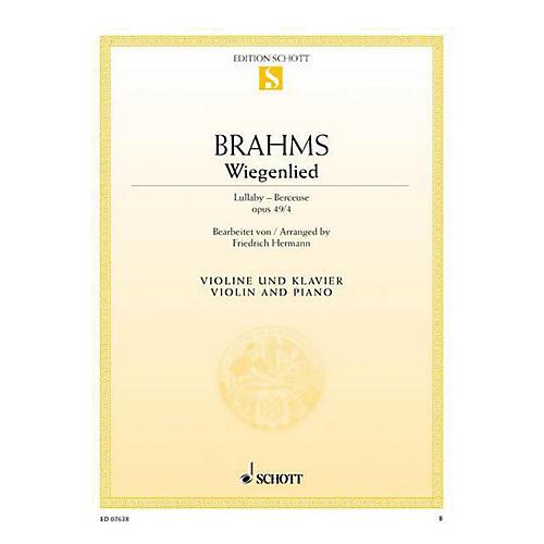 Schott Lullaby in F Minor, Op. 49, No. 4 (Wiegenlied / Berceuse) Schott Series
