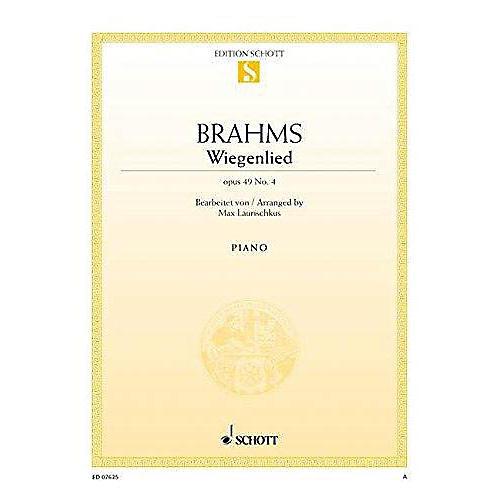 Schott Lullaby in F Minor, Op. 49, No. 4 (Wiegenlied) Schott Series