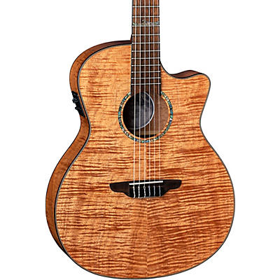 Luna Guitars Luna Guitars High Tide Exotic Mahogany Nylon String Acoustic/Electric Grand Concert Cutaway Guitar