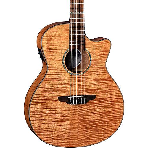 Luna Guitars Luna Guitars High Tide Exotic Mahogany Nylon String Acoustic/Electric Grand Concert Cutaway Guitar Satin Natural