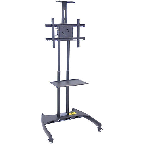 H. Wilson Luxor Adjustable Flat Panel Cart with Shelf and Camera Mount
