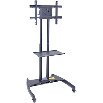 H. Wilson Luxor Adjustable Flat Panel Cart with Shelf