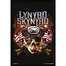 Lynyrd Skynyrd - Motor Poster Framed Black