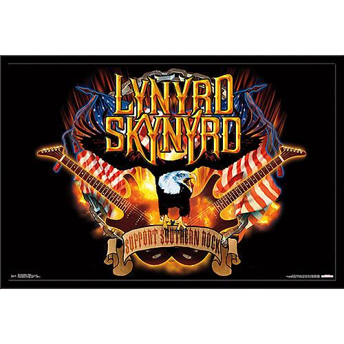 Trends International Lynyrd Skynyrd - Support Poster Framed Black