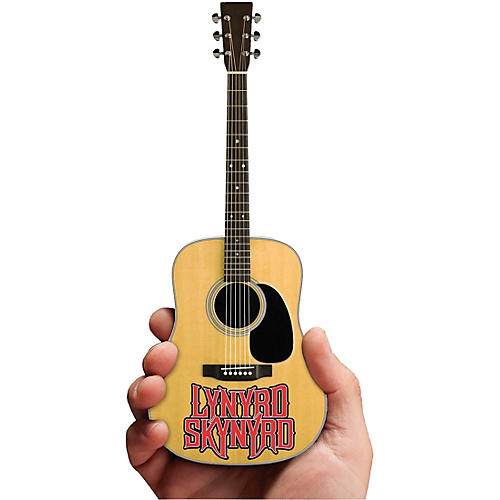 iconic concepts lynyrd skynyrd acoustic guitar with logo natural wood finish officially. Black Bedroom Furniture Sets. Home Design Ideas