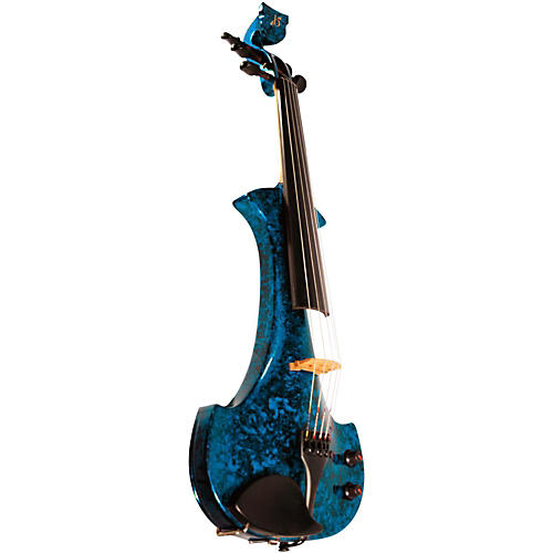 bridge lyra series 5 string electric violin blue marble musician 39 s friend. Black Bedroom Furniture Sets. Home Design Ideas