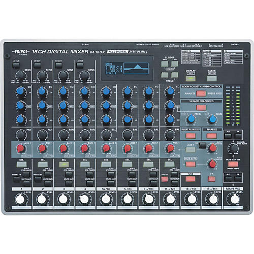 edirol m 16dx 16 channel digital mixer musician 39 s friend. Black Bedroom Furniture Sets. Home Design Ideas