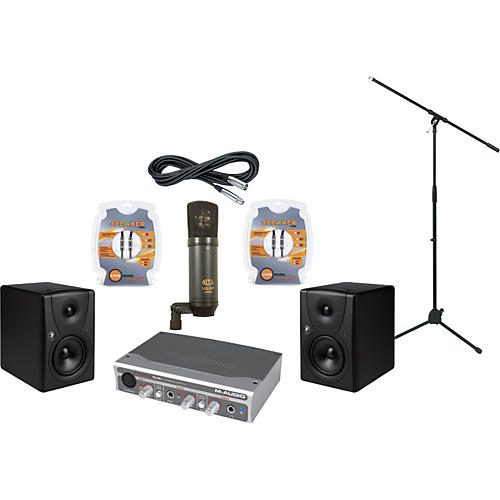 Mackie M-Audio FireWire Solo and Mackie MR5 Recording Package