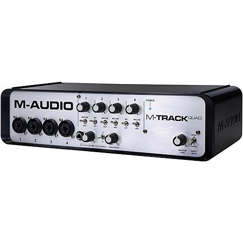 m audio m track quad 4 channel audio plus usb midi interface musician 39 s friend. Black Bedroom Furniture Sets. Home Design Ideas