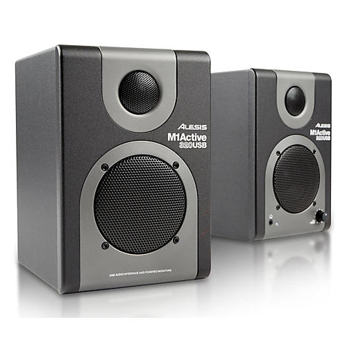 alesis m1 active 320 usb studio monitor pair musician 39 s friend. Black Bedroom Furniture Sets. Home Design Ideas