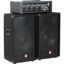"Harbinger M120 120W 4-Channel Compact Portable PA with 12"" Speakers"