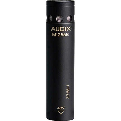 Audix M1255B Miniturized High Output Condenser Microphone for Distance Miking Supercardioid Standard