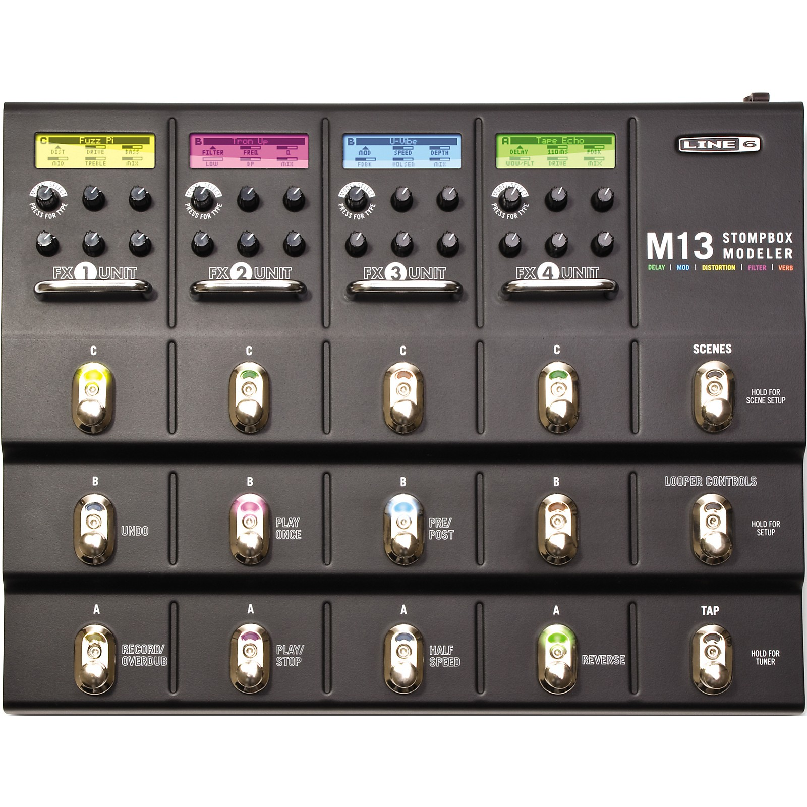 Line 6 M13 Stompbox Modeler Guitar Multi-Effects Pedal
