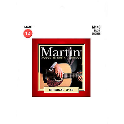Martin M140 Martin Acoustic 80/20 Light Guitar String