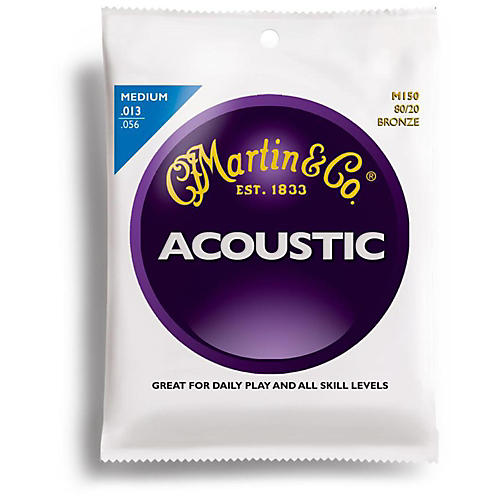 Martin M150 80/20 Bronze Medium Acoustic Guitar Strings