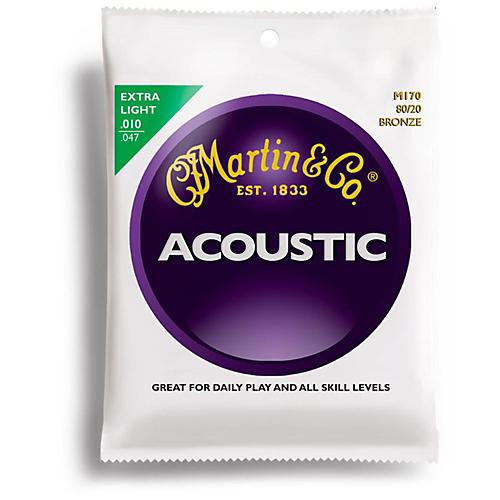 Martin M170 80/20 Bronze Extra Light Acoustic Guitar Strings
