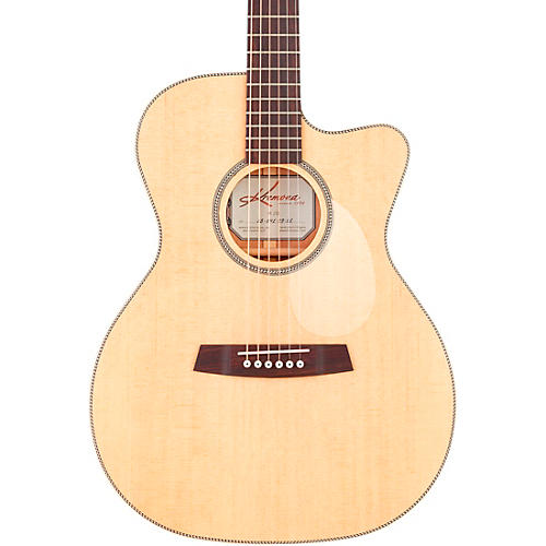 Kremona M25 CW OM-Style Acoustic-Electric Guitar Natural